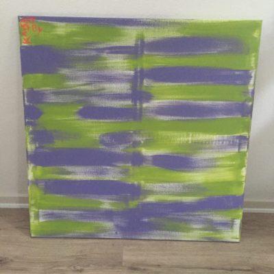 Maleri 80x80 cm Stripes
